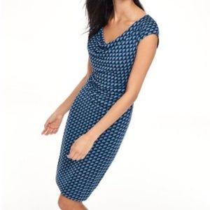 Boden Blue Geometric Pattern Dress